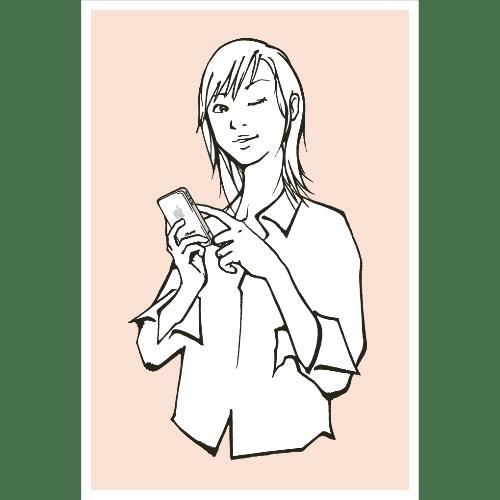 ポストカードのイラストレーション33