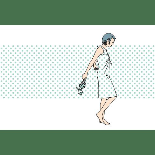 暑中見舞いのイラストレーション10-1