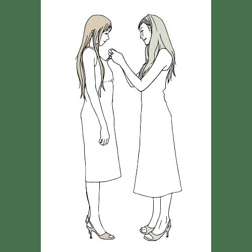 暑中見舞いのイラストレーション11