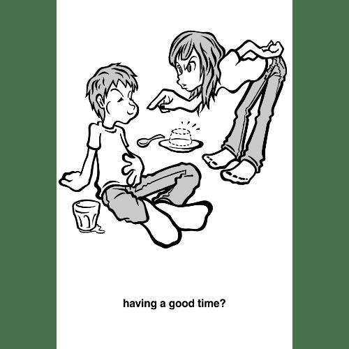 暑中見舞いのイラストレーション31