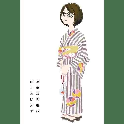 暑中見舞いのイラストレーション50