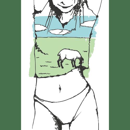 暑中見舞いのイラストレーション57